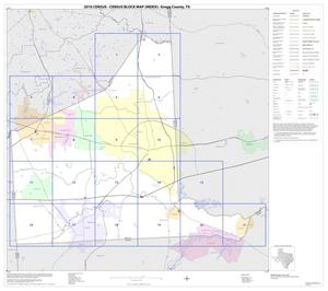 Primary view of object titled '2010 Census County Block Map: Gregg County, Index'.