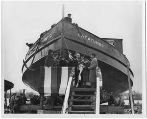 "Primary view of object titled '[Women Christening Ship ""Catatumbo""]'."