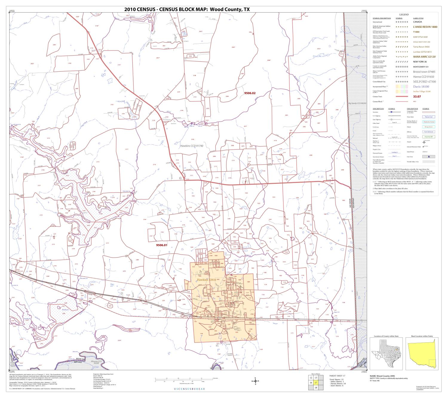 2010 Census County Block Map: Wood County, Block 17                                                                                                      [Sequence #]: 1 of 1