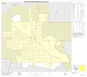 Primary view of object titled '2010 Census County Block Map: Mason County, Inset A01'.