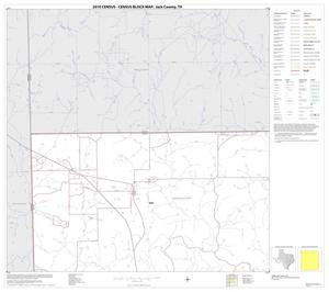 Primary view of object titled '2010 Census County Block Map: Jack County, Block 1'.