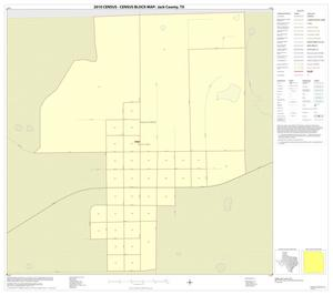 Primary view of object titled '2010 Census County Block Map: Jack County, Inset C01'.