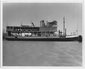 "Primary view of object titled '[Photograph of Ship ""Catatumbo"" in Water]'."