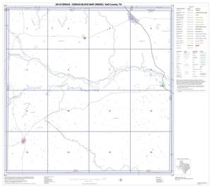 Primary view of object titled '2010 Census County Block Map: Hall County, Index'.
