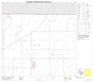 Primary view of object titled '2010 Census County Block Map: Gray County, Block 3'.