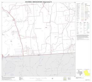 Primary view of object titled '2010 Census County Block Map: Liberty County, Block 21'.