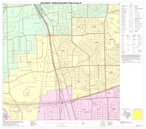 Primary view of object titled '2010 Census County Block Map: Dallas County, Block 12'.