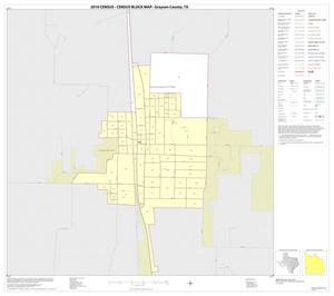Primary view of object titled '2010 Census County Block Map: Grayson County, Inset L01'.