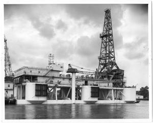 "Primary view of object titled '[Drilling Rig ""Santa Fe Mariner 1""]'."