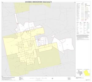 Primary view of object titled '2010 Census County Block Map: Liberty County, Inset D01'.