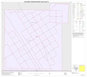 Primary view of object titled '2010 Census County Block Map: Nolan County, Inset E01'.