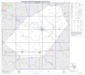 Primary view of object titled '2010 Census County Block Map: Fayette County, Index'.