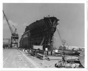 Primary view of object titled '[Construction of a Ship]'.