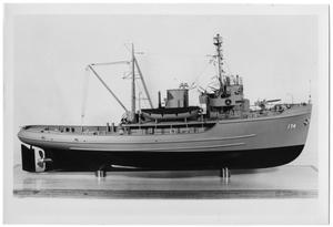 Primary view of object titled 'Ship Model-Type of Gun Boat #174'.