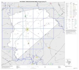 Primary view of object titled '2010 Census County Block Map: Houston County, Index'.
