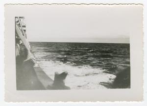 Primary view of object titled '[Photograph of the Ocean from the Side of a Ship]'.