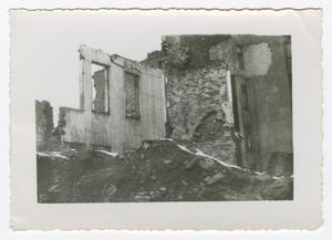 Primary view of [Photograph of a Destroyed Building]