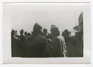 Primary view of object titled '[Group of Men in Heavy Coats]'.