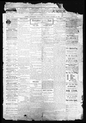 Primary view of object titled 'The Conroe Courier. (Conroe, Tex.), Vol. 4, Ed. 1 Friday, October 22, 1897'.