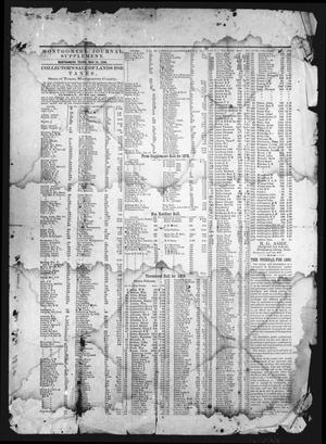 Primary view of object titled 'Montgomery Journal Supplement (Montgomery, Tex.), Ed. 1 Saturday, May 22, 1880'.