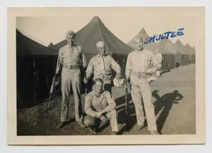 [Four Soldiers Outside Camp]
