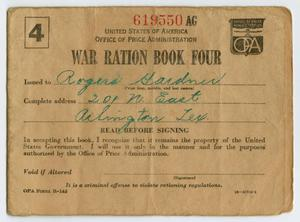 [War Ration Book Four: Rogers Gardner]