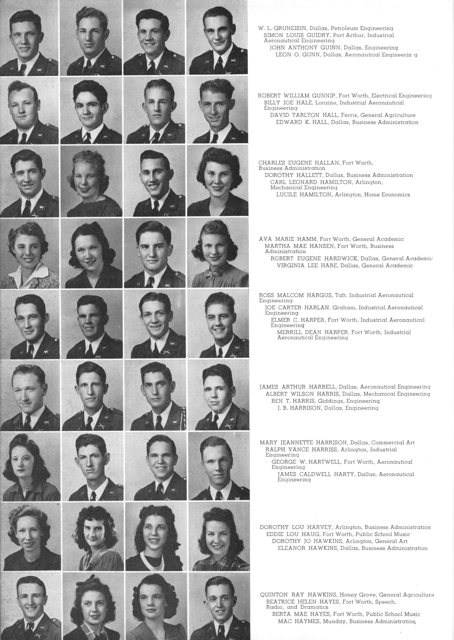 The Junior Aggie, Yearbook of North Texas Agricultural College, 1941