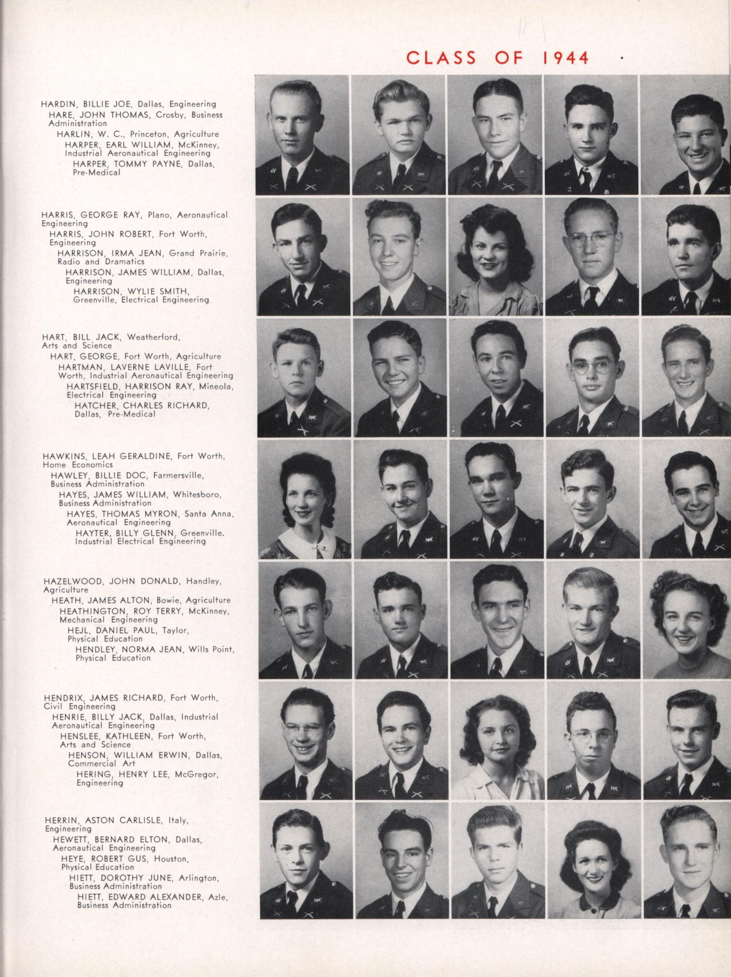 The Junior Aggie, Yearbook of North Texas Agricultural