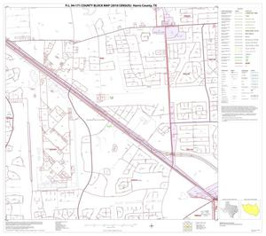 Primary view of object titled 'P.L. 94-171 County Block Map (2010 Census): Harris County, Block 108'.