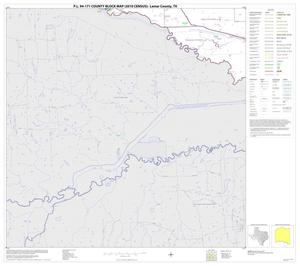 Primary view of object titled 'P.L. 94-171 County Block Map (2010 Census): Lamar County, Block 25'.
