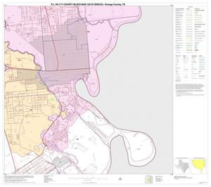 Primary view of object titled 'P.L. 94-171 County Block Map (2010 Census): Orange County, Block 18'.