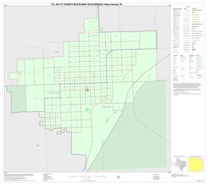 Primary view of object titled 'P.L. 94-171 County Block Map (2010 Census): Knox County, Inset D01'.
