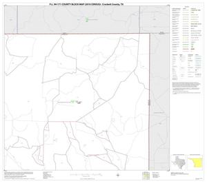 Primary view of object titled 'P.L. 94-171 County Block Map (2010 Census): Crockett County, Block 8'.