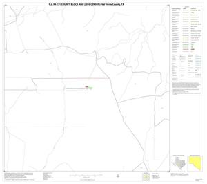 Primary view of object titled 'P.L. 94-171 County Block Map (2010 Census): Val Verde County, Block 22'.