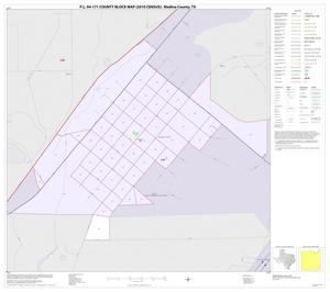 Primary view of object titled 'P.L. 94-171 County Block Map (2010 Census): Medina County, Inset I01'.