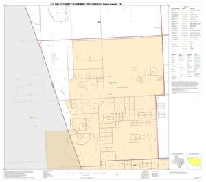 Primary view of object titled 'P.L. 94-171 County Block Map (2010 Census): Harris County, Block 167'.
