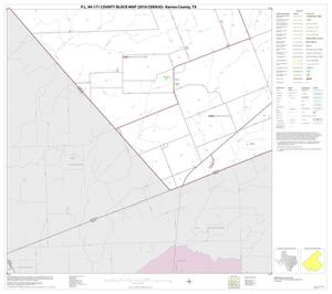 Primary view of object titled 'P.L. 94-171 County Block Map (2010 Census): Karnes County, Block 18'.