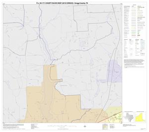 Primary view of object titled 'P.L. 94-171 County Block Map (2010 Census): Gregg County, Block 3'.