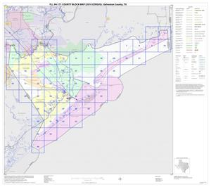 Primary view of object titled 'P.L. 94-171 County Block Map (2010 Census): Galveston County, Index'.