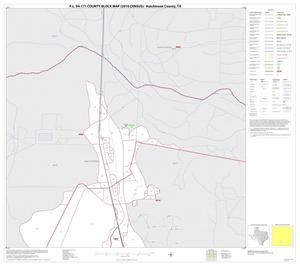 Primary view of object titled 'P.L. 94-171 County Block Map (2010 Census): Hutchinson County, Inset C01'.