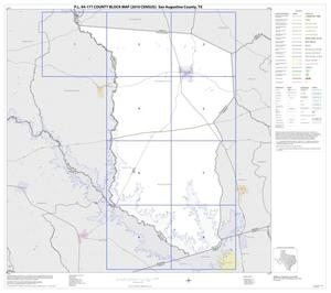 Primary view of object titled 'P.L. 94-171 County Block Map (2010 Census): San Augustine County, Index'.