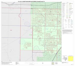 Primary view of object titled 'P.L. 94-171 County Block Map (2010 Census): Randall County, Inset A01'.