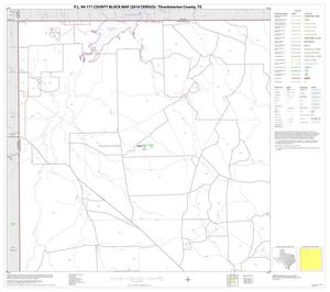 Primary view of object titled 'P.L. 94-171 County Block Map (2010 Census): Throckmorton County, Block 1'.