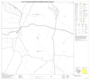 Primary view of object titled 'P.L. 94-171 County Block Map (2010 Census): Red River County, Block 28'.