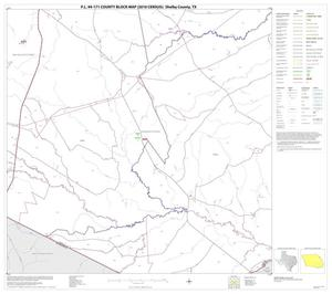 Primary view of object titled 'P.L. 94-171 County Block Map (2010 Census): Shelby County, Block 14'.