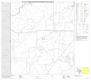 Primary view of object titled 'P.L. 94-171 County Block Map (2010 Census): Archer County, Block 9'.