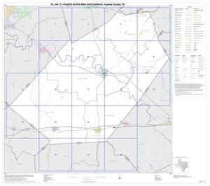 Primary view of object titled 'P.L. 94-171 County Block Map (2010 Census): Fayette County, Index'.