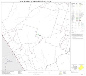 Primary view of object titled 'P.L. 94-171 County Block Map (2010 Census): Hamilton County, Block 13'.