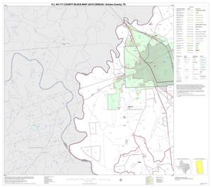 Primary view of object titled 'P.L. 94-171 County Block Map (2010 Census): Grimes County, Block 13'.