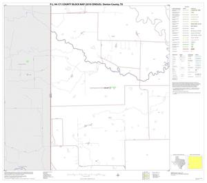 Primary view of object titled 'P.L. 94-171 County Block Map (2010 Census): Denton County, Block 51'.